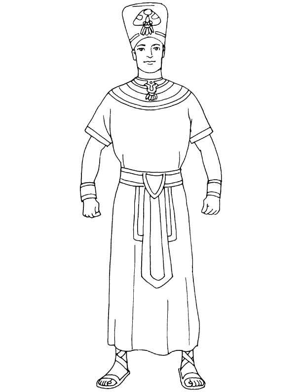 Egyptian King Costume Coloring Page Download Free