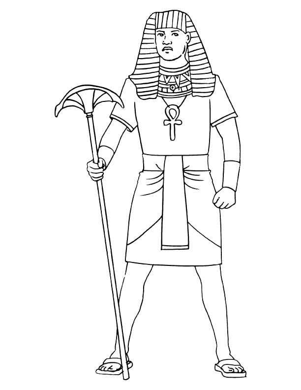 how to draw an egyptian man