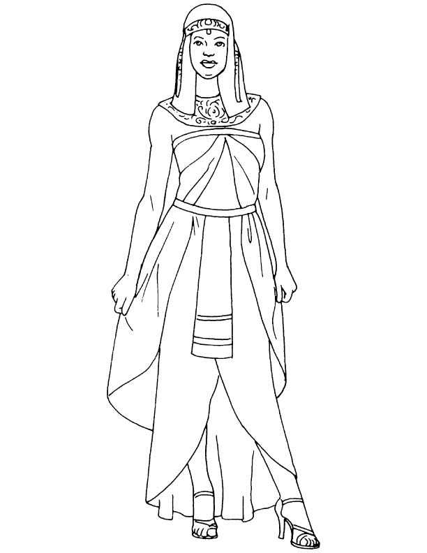 egyptian women coloring pages - photo#2