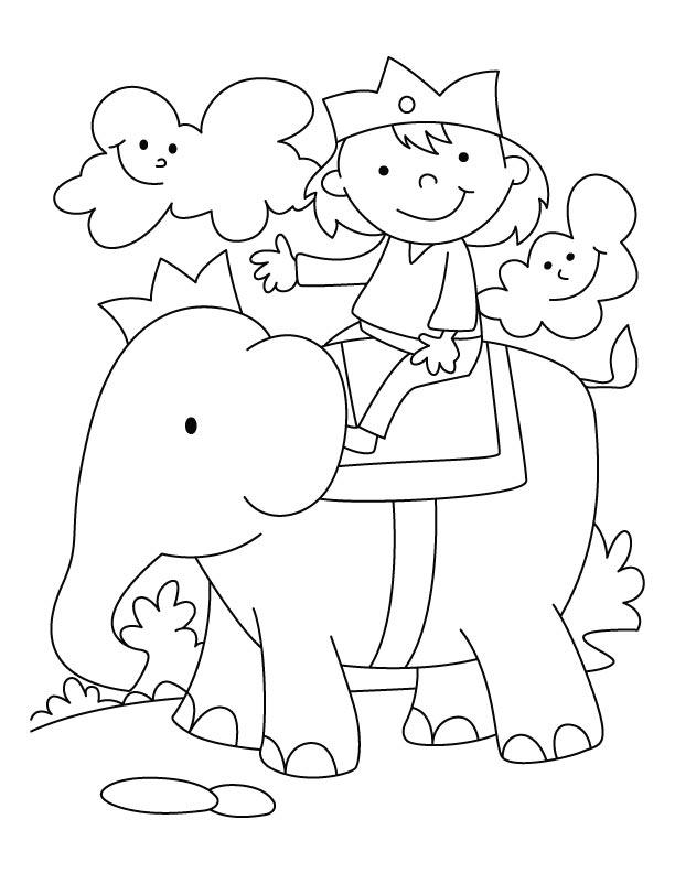 Elephant Trunk Coloring Pages