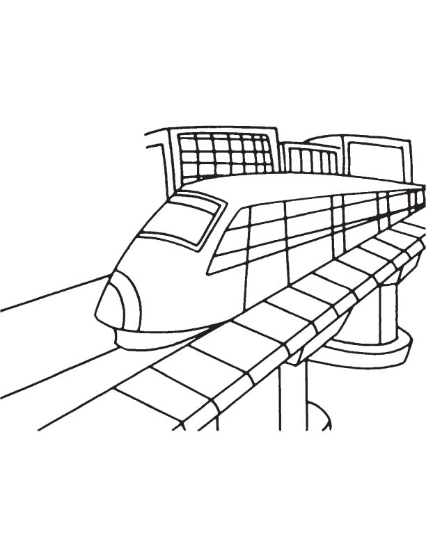 Elevated metro coloring page