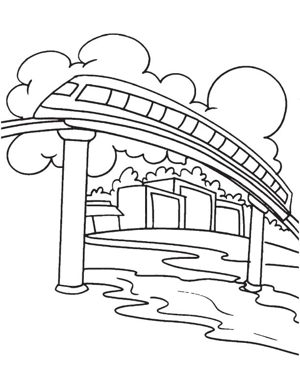 Stair Rail Coloring Page Coloring Pages Rail Color Page