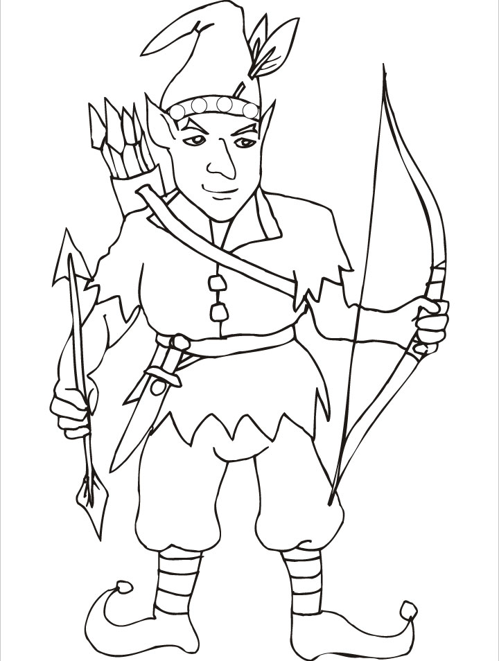the greatest elf archer of the world coloring pages - Coloring Pages Elves