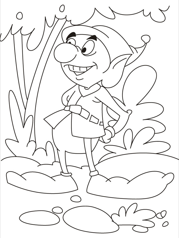elf coloring pages for kids - photo#28