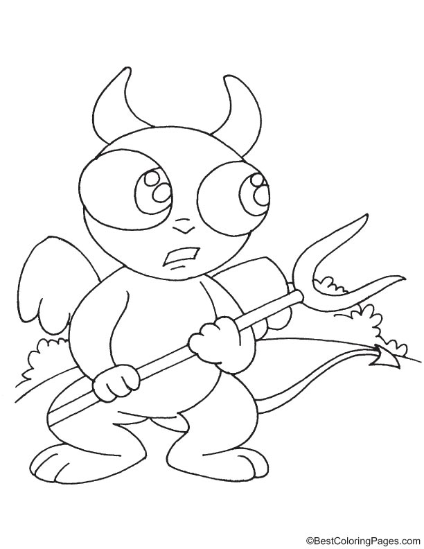 Elf devil coloring page