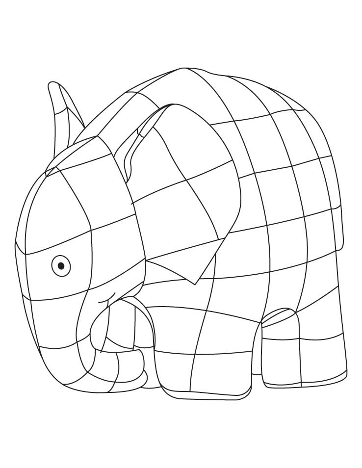 Elmer elephant coloring sheet