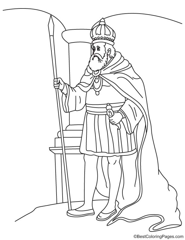 Emperor of Brazil coloring page