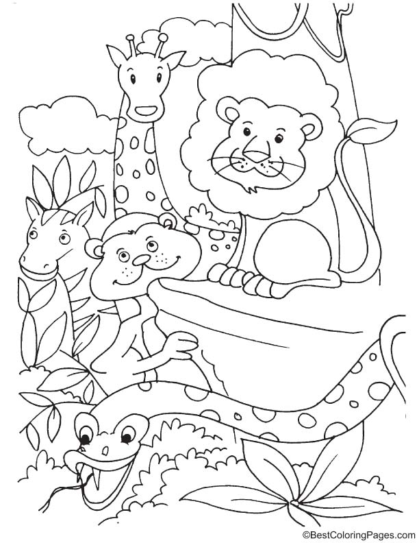 Endangered animals coloring page download free for Endangered species coloring pages