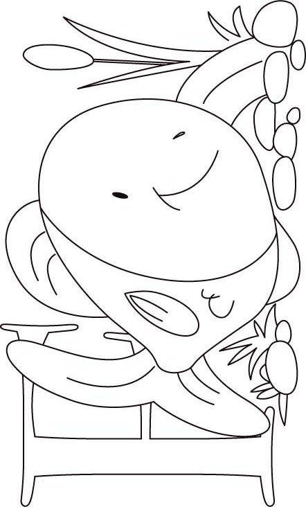 f for fish coloring pages - photo #28