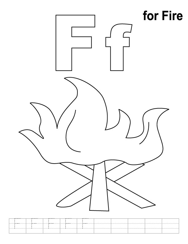 f coloring pages for preschool-#15