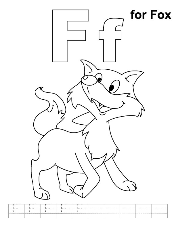 f coloring pages - photo #28