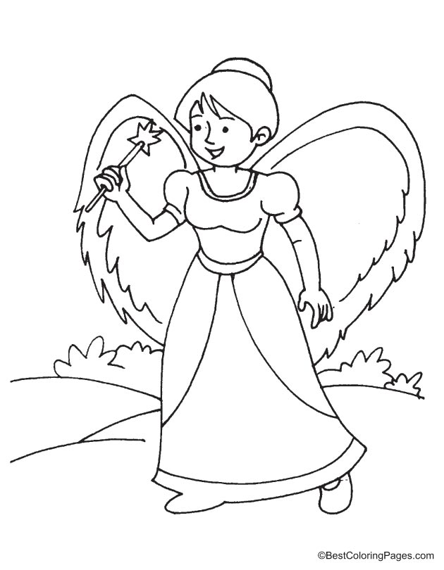 Fairy Coloring Page 12