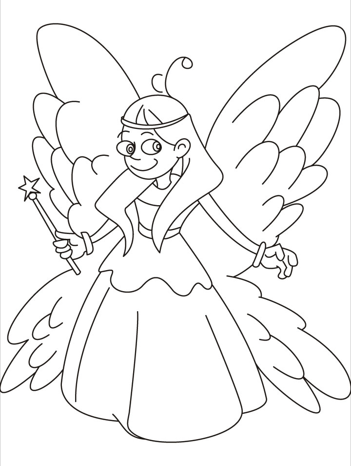 magic show coloring pages - come to me i will show you fairy magic coloring pages