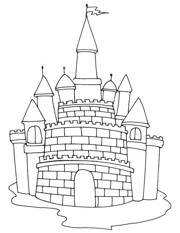 Fairytale Castle Coloring Page