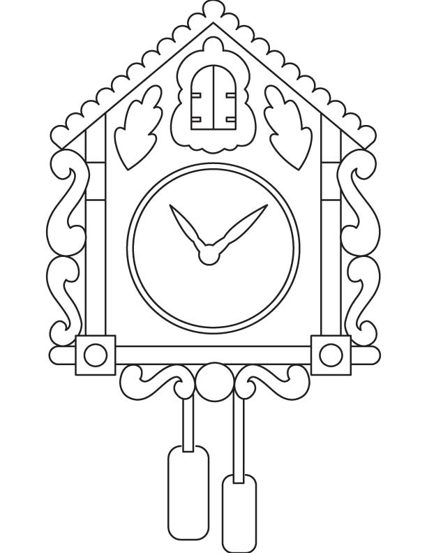 Fancy Clock Coloring Page Download Free Fancy Clock