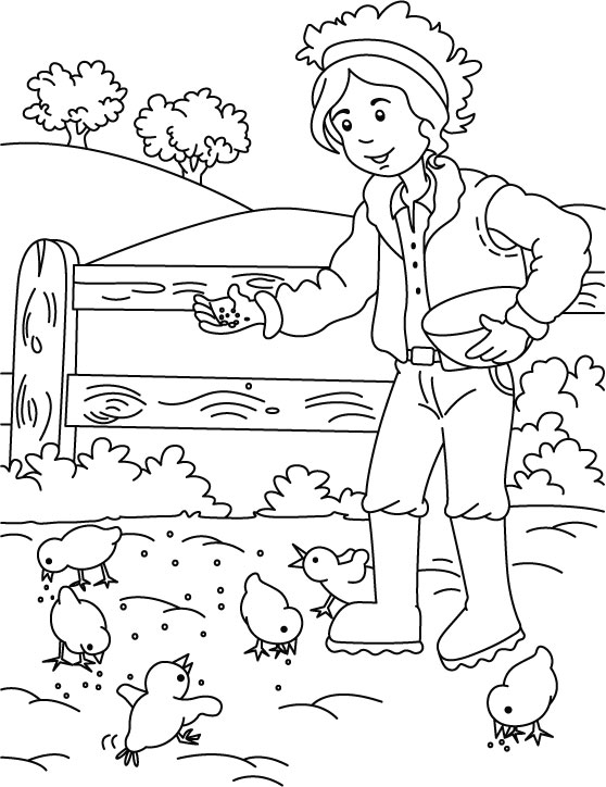 farm house coloring page - Farm Coloring Pages