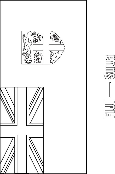 Fiji Flag Coloring Page Download Free Fiji Flag Coloring
