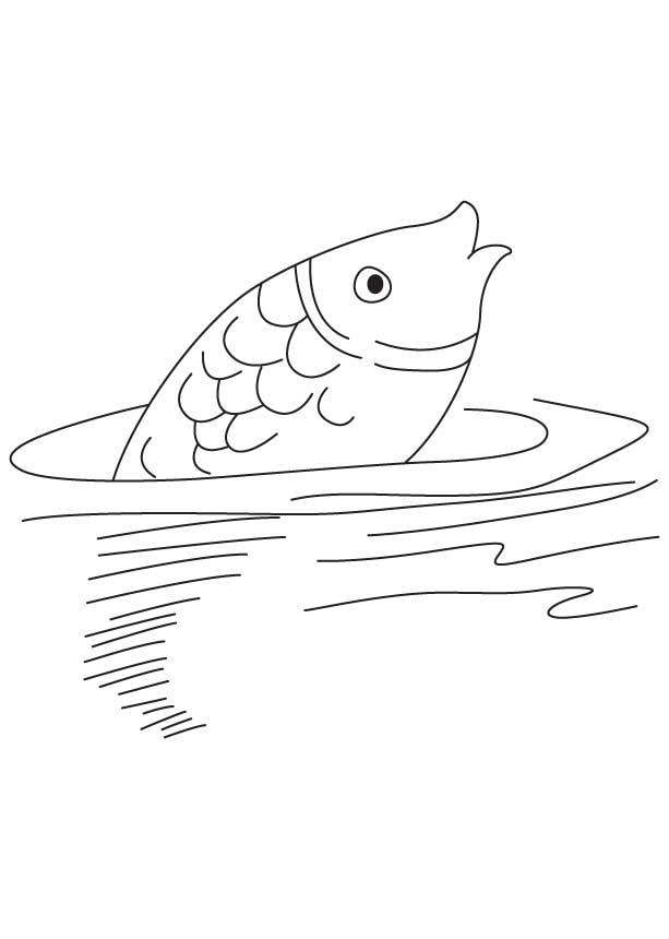 Fish In Water Coloring Pages Coloring Pages