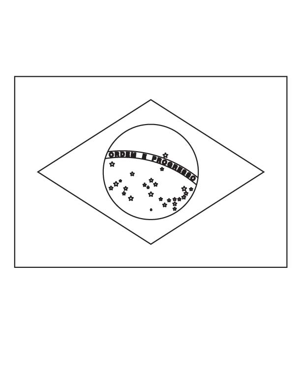 Flag of Brazil coloring page | Download Free Flag of Brazil coloring ...