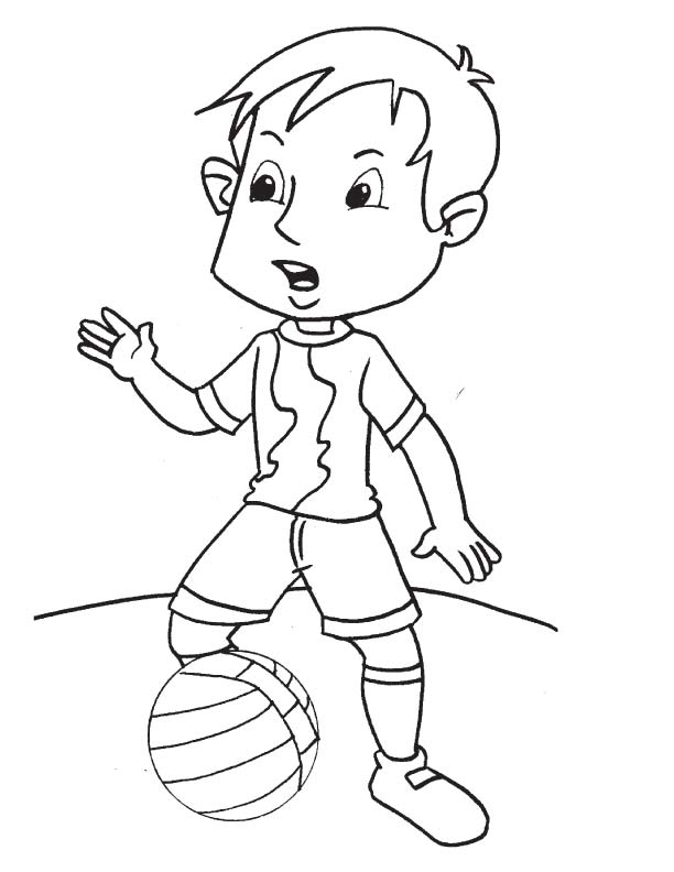 Football player coloring page | Download Free Football player ...