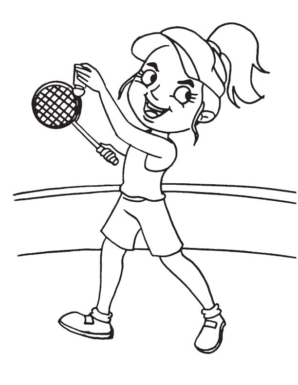 Forehand service coloring page