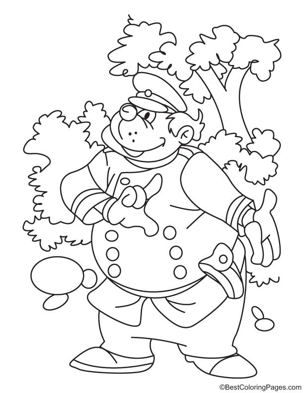 Forest inspector coloring page