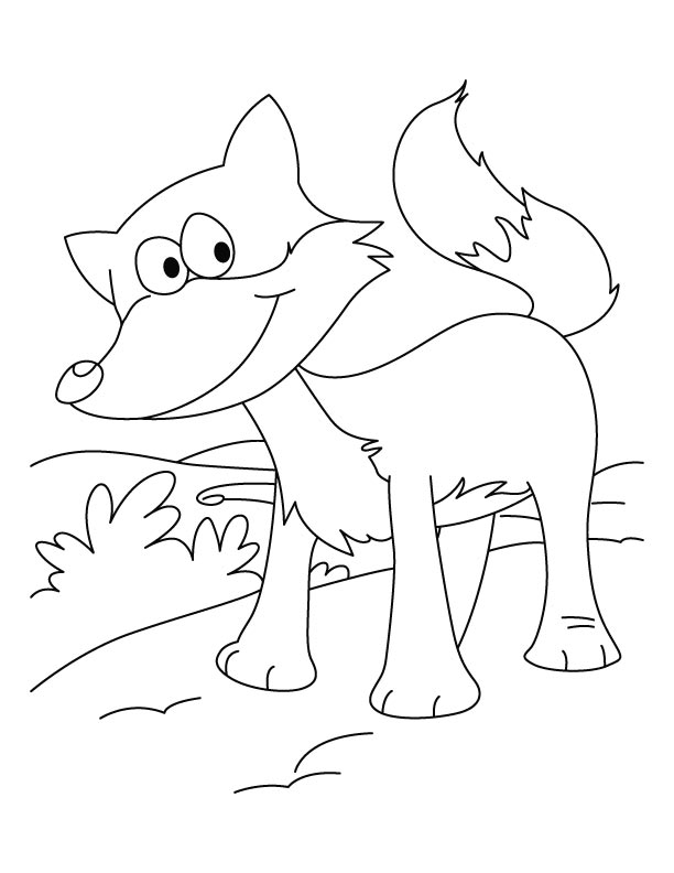 A happy cunning fox coloring page  Download Free A happy cunning