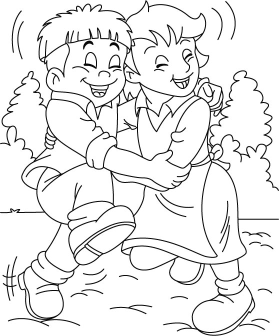 I Want A True Friend Like You Coloring Page