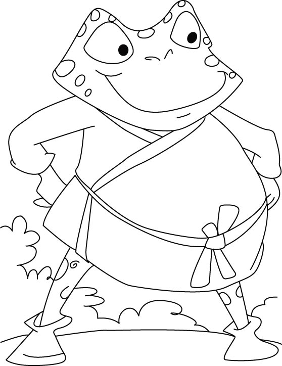 Frog gear for war coloring pages