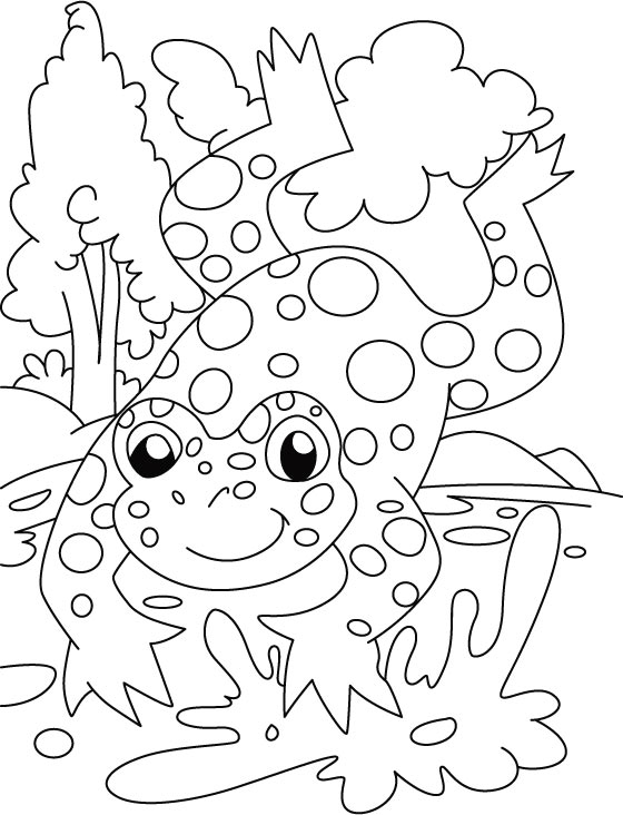 frog-count the spot coloring pages