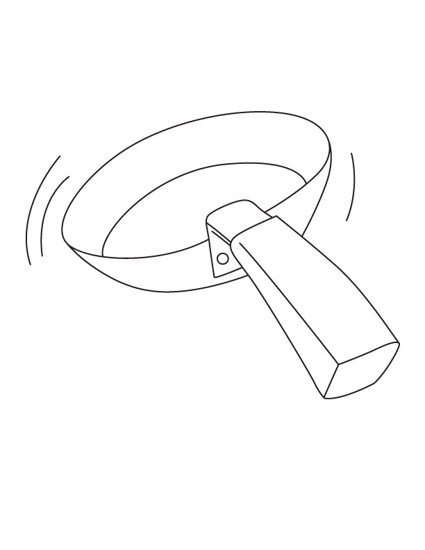 Frying Pan Coloring Page Download Free Frying Pan Pan Coloring Page