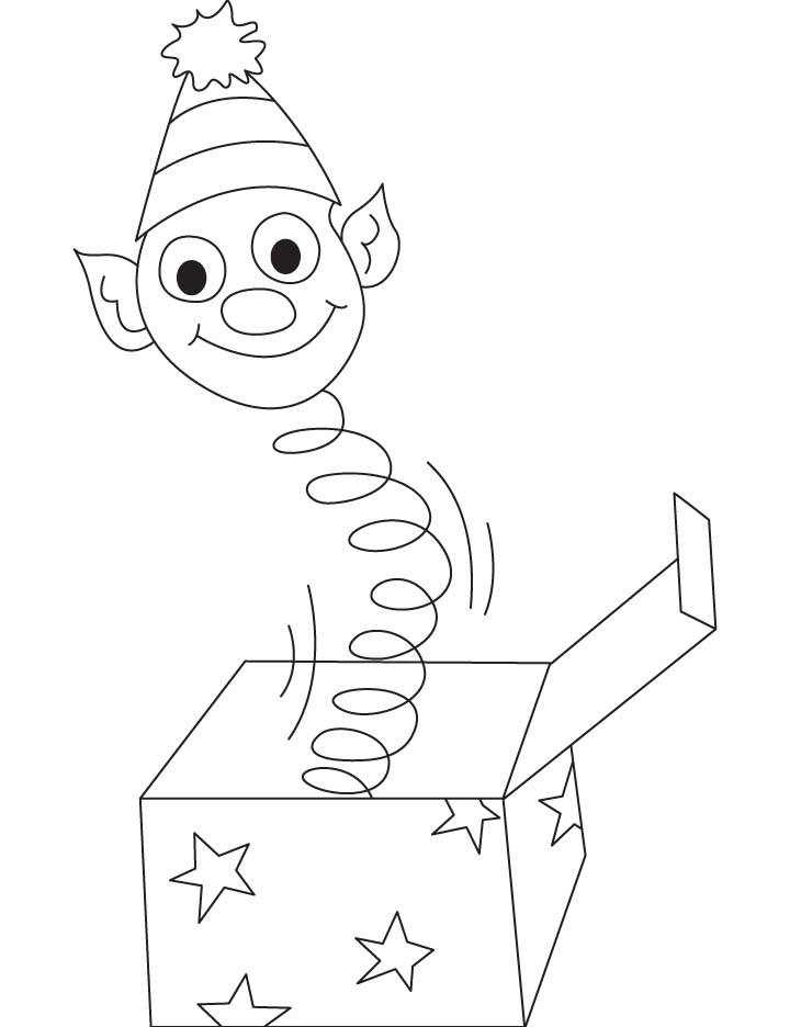 mailbox coloring pages for kids | Jack in the box coloring pages | Download Free Jack in the ...