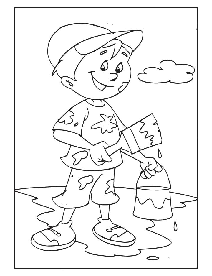 Lets paint the world coloring pages