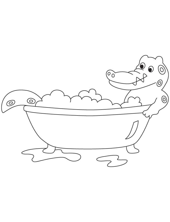 bath coloring pages - photo#34