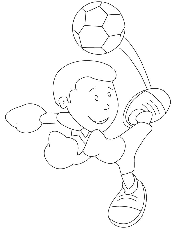 mickey kicking a soccer ball coloring pages