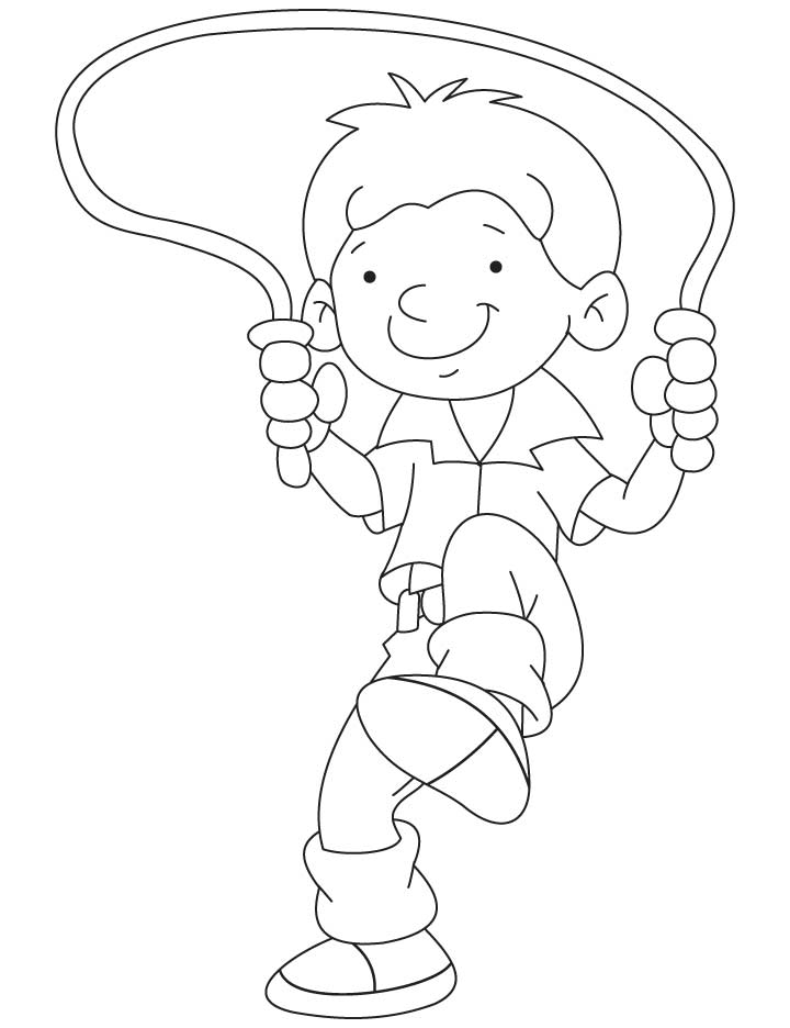 Bobby Skipping A Rope Coloring Pages