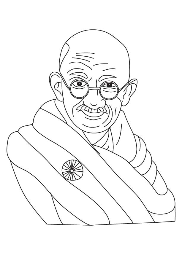 Gandhi Jayanti Coloring Page Download Free Gandhi