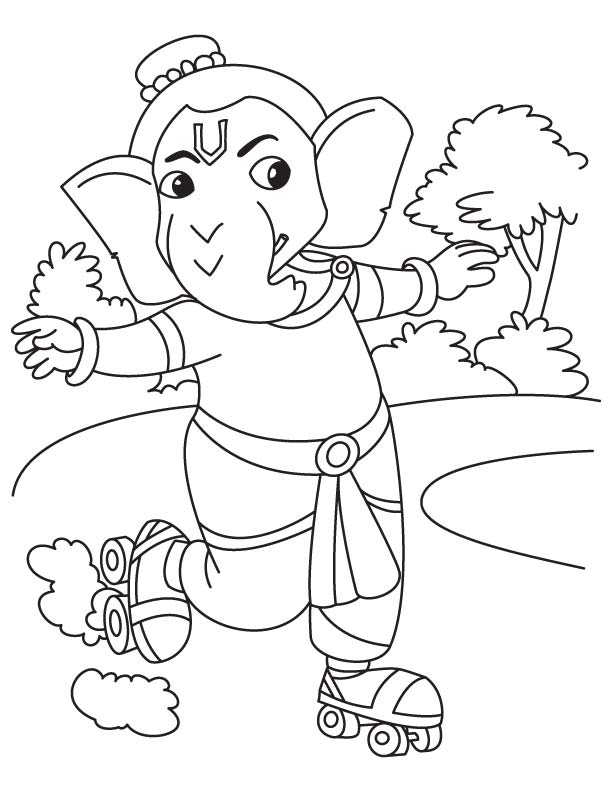 Ganesha pictures for colouring | Download Free Ganesha pictures for ...