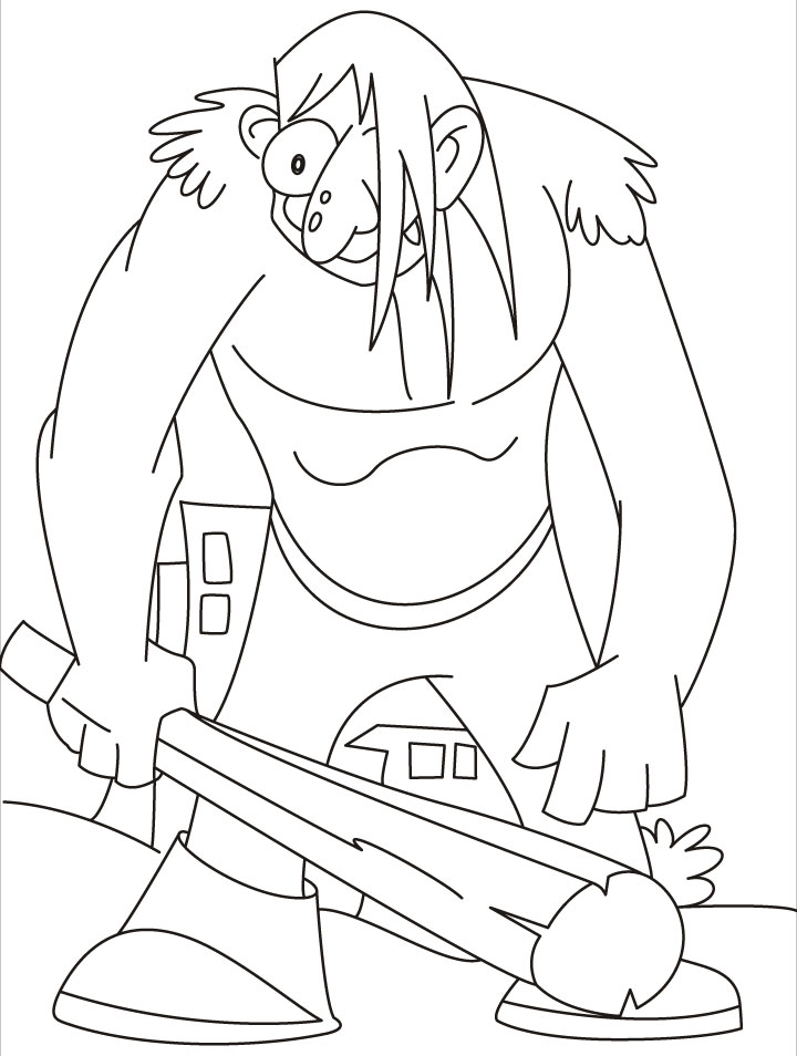 This giant really in a bad mood coloring pages | Download Free ...