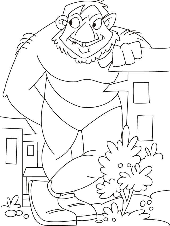 the giant coloring page