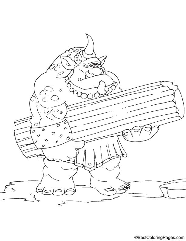 Giant cyclops coloring page