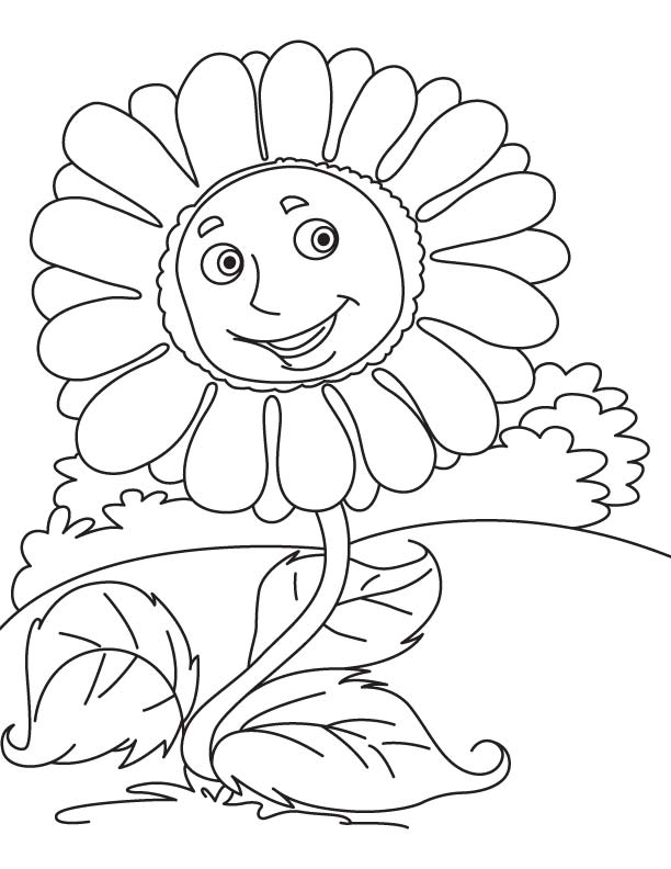 giant sunflower coloring page - Sunflower Coloring Pages Kids