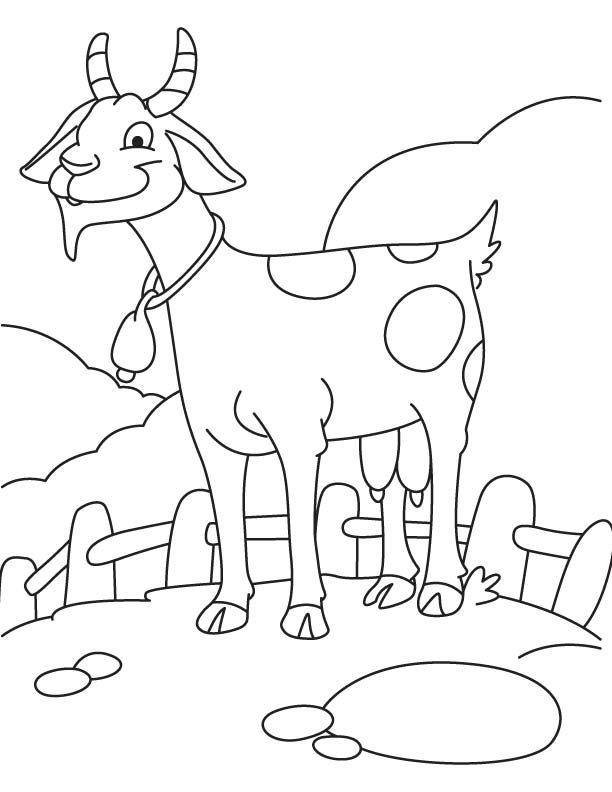 glad goat coloring page