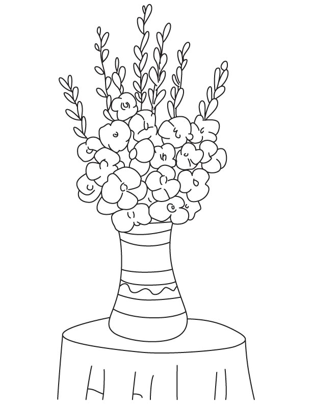 Gladiolus bulbs coloring page
