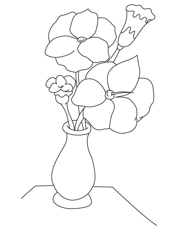flower vase coloring page. Gladiolus flower vase coloring page  Download Free
