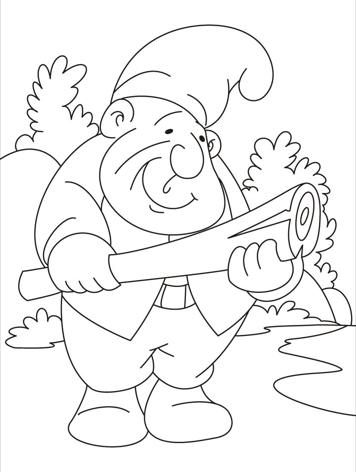 What to do This gnome is in fix coloring pages