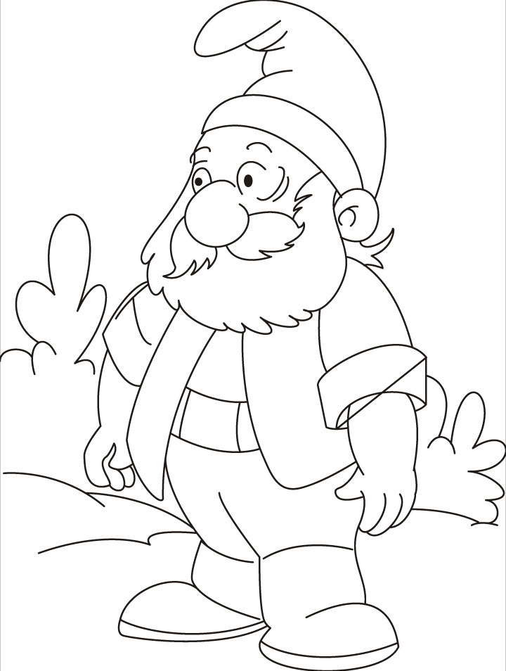 Gnomes lost his way, could you help him coloring pages