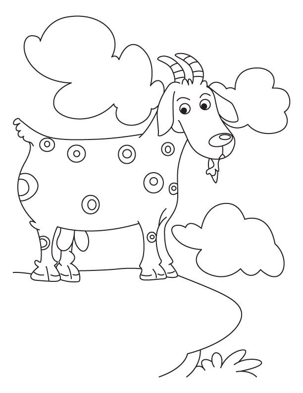 Goat Trapped In Mountain Coloring Pages