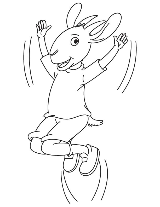 Goat jump coloring page