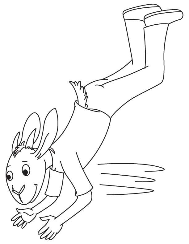 Goat jumped coloring page